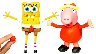 LIVE SpongeBob Scary Peppa Pig Funny Play-Doh Prank STOP MOTION Animation Toys Videos
