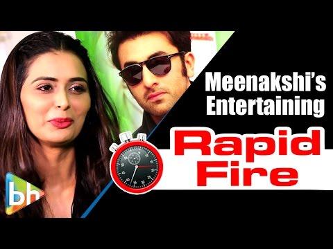 Meenakshi Dixit's ENTERTAINING Rapid Fire On Shahid | Hrithik Roshan | Ranbir | Shah Rukh Khan