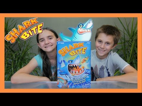 SHARK BITE GAME SISTER VS BROTHER CHALLENGE