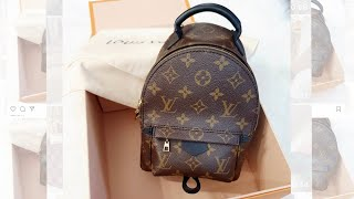 LOUIS VUITTON PALM SPRINGS MINI BACKPACK UNBOXING