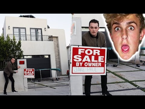 I PUT JAKE PAUL'S HOUSE UP FOR SALE! (PRANK)