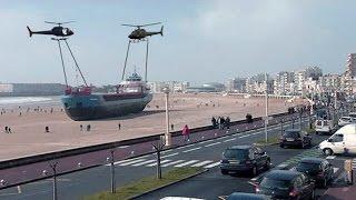 أكثر 3 سفن قذفتها العاصفة الى الشاطئ .. لم تكن تعرفها من قبل !