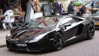 Badr Hari en Estelle Cruijff vertrekken in een Lamborghini Aventador
