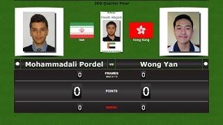 Pool 9 ball  Match 45 : Mohammadali Pordel vs Wong Yan