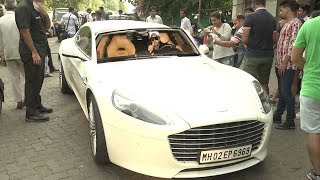 Ranveer Singh Driving His New Aston Martin Sports Car Worth ₹8 Crore On Mumbai Roads