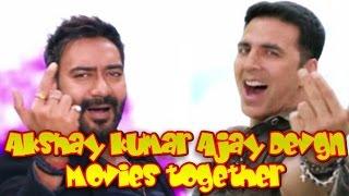 Akshay Kumar and Ajay Devgn Movies together : Bollywood Films List 🎥 🎬