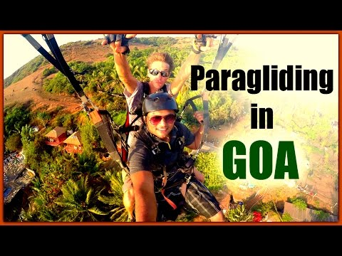 Paragliding in Goa at Anjuna Beach - 2016 | Touring Travellers