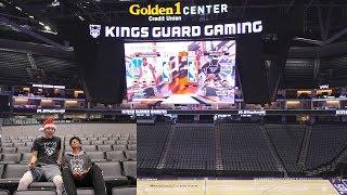 PLAYING NBA 2K18 WAGER ON THE BIGGEST NBA ARENA JUMBOTRON 4K SCREEN