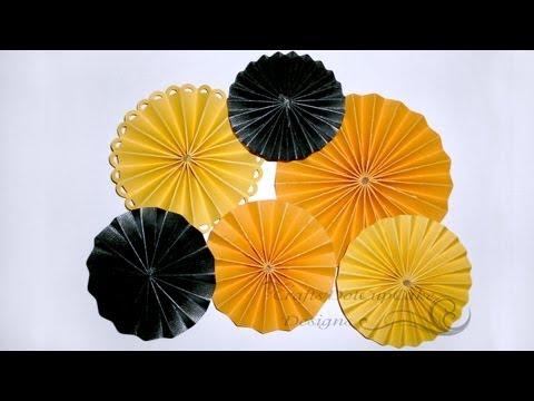 How to Make Paper Rosette Flower - Tutorial
