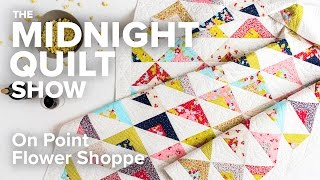 Scrappy On Point Triangle Quilt (an FMQ Love Story) | Midnight Quilt Show with Angela Walters