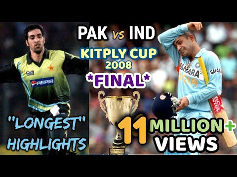 KITPLY Cup FINAL INDIA vs PAKISTAN THE MOTHER of ALL FINAL in WORLD CRICKET 2008 DHAKA