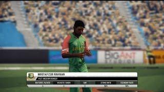 Mustafizur Rahman on Don Bradman Cricket