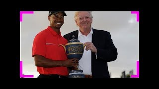 Tiger woods launches highly anticipated comeback by helping trump violate the constitution