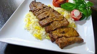 How To Make Kabab Barg - آموزش درست کردن کباب برگ