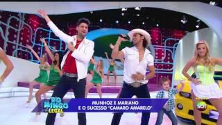 (HD) Munhoz e Mariano Camaro Amarelo no Domingo Legal