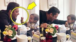 Salman Khan's CUTE Moments With Baby Ahil In London
