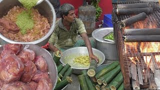 Indian Street Food | Full BAMBOO CHICKEN Preparation | Wow What A Dish |Healthy Delicious India Food