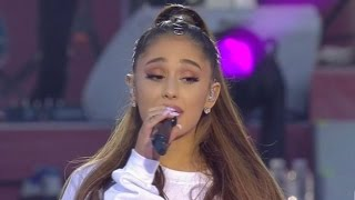 Ariana Grande Fights Back Tears While Speaking at One Love Manchester Benefit Concert