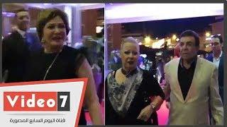 """سمير صبري ولبلبة وهالة صدقي يهنئون صناع فيلم """"كارما"""" في عرضه الخاص"""