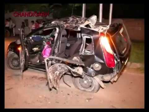 Three girls killed another two injured after over speeding car slammed into a tree in Chandigarh