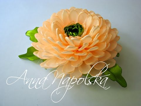 Атласные цветы своими руками мастер класс канзаши