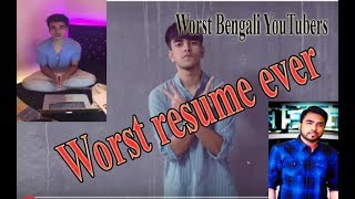 Salman Muqtadir tolk about Worst resume ever in facebook live || Worst Bengali YouTubers|CfenglishTv