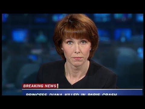 Kay Burley announces the death of Princess Diana on Sky News in 1997