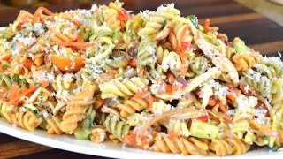 Chicken & Vegetable Pasta Salad Recipe |Cooking With Carolyn
