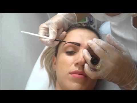 #1[SobrancelhaNaPratica]Vídeo Aula De Designer De Sobrancelha Com Henna Participação Cliente Aline