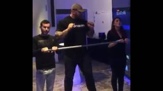 The Mountain from Game Of Thrones Lifts 400Lbs+ People