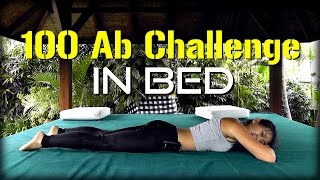 4-Week 100 Ab Challenge in Bed! (Strong Core, Flat Tummy)