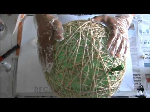 Como hacer lámpara de cuerdas how to make string lamps