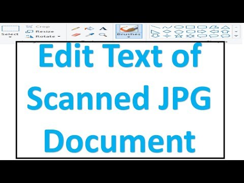 How to edit scanned Photos and documents without using any software Ms Paint trick