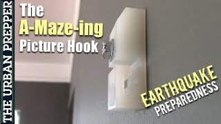 The A-Maze-ing Picture Hook by QuakeHold! (Earthquake Prep)