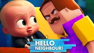 Minecraft - BOSS BABY GETS TAKEN BY HELLO NEIGHBOUR!