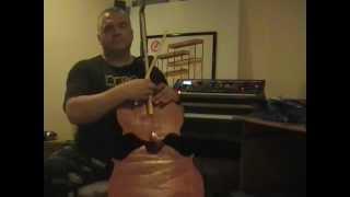 Build a Midi Cello using two optical mice.