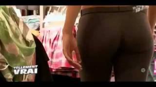 hot girl perfect butt spandex pants