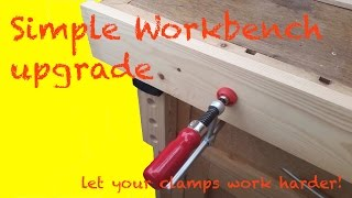 Simple Workbench: vertical bench dogs and clamp upgrade, with out the need for a large vice.