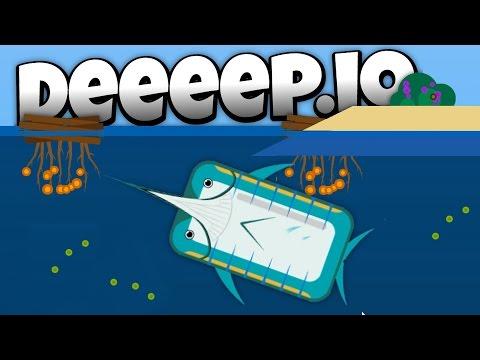Deeeep.io - Fastest Fish Ever! - The Deadly Marlin! - New Animals! - Lets Play Deeeep.io Gameplay
