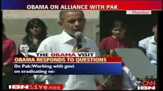 """Indian Student Asks Obama, """"Why Doesn"""