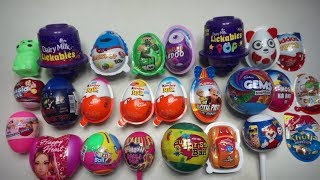 25 SURPRISE EGGS Huge Collection With Free Gift Inside