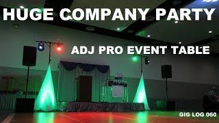 Large Christmas Company Party   Gig Log 060   ADJ Pro Event Table