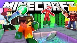 Minecraft Do Not Laugh | AQUAMAN AND THE HEADBUSH (Funny Moments!)