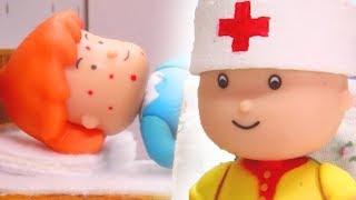 CAILLOU NURSES ROSIE | Funny Animated cartoons Kids | Caillou Stop Motion #Caillou #Cartoon