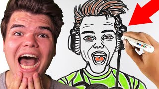 Reacting To DRAW MY LIFE! (Jelly)