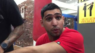 Amir khan on Canelo vs Chavez jr says canelo beats ggg talks kell brook  esnews boxing