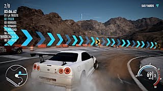 Need For Speed: Payback R34 GT-R GAMEPLAY!! w/ NEW CANYON ROADS!