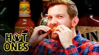 Dillon Francis Hurts His Body with Spicy Wings   Hot Ones