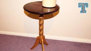 Making a Hollow Spiral Pedestal Table