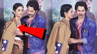Varun Dhawan SAVES His Co-Star Banita Sandhu From OOPS Moment At October Movie Trailer Launch